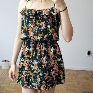 PARKER Floral Silk Dress